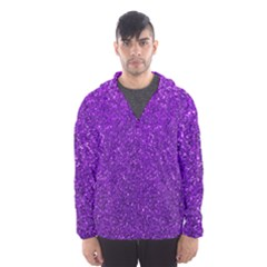 Purple  Glitter Hooded Windbreaker (men) by snowwhitegirl