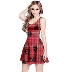 Red Plaid Anarchy Reversible Sleeveless Dress by snowwhitegirl