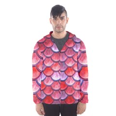 Red Mermaid Scale Hooded Windbreaker (men) by snowwhitegirl