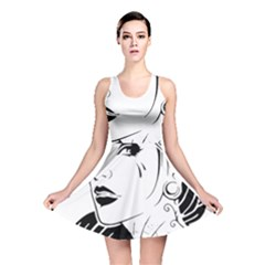 Woman Wth Hat 720 Reversible Skater Dress