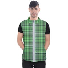Green Plaid Men s Puffer Vest by snowwhitegirl