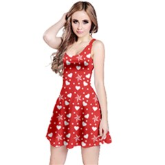 Hearts And Star Dot Red Reversible Sleeveless Dress by snowwhitegirl