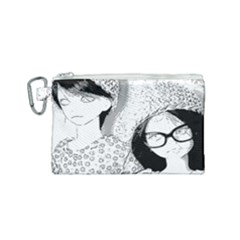 Twins Canvas Cosmetic Bag (small) by snowwhitegirl