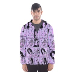 Lilac Yearbook 2 Hooded Windbreaker (men) by snowwhitegirl