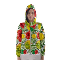 Orange Tropics Hooded Windbreaker (women) by snowwhitegirl