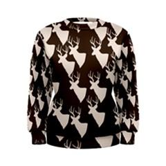 Brown Deer Pattern Women s Sweatshirt by snowwhitegirl