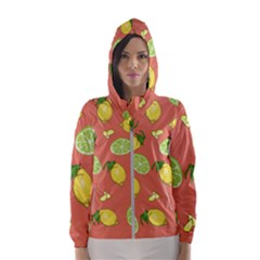 Lemons And Limes Peach Hooded Windbreaker (women) by snowwhitegirl