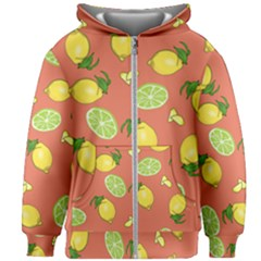 Lemons And Limes Peach Kids Zipper Hoodie Without Drawstring