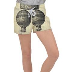 Vintage Air Balloon Women s Velour Lounge Shorts by snowwhitegirl