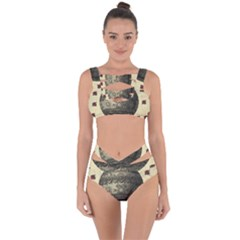 Vintage Air Balloon With Roses Bandaged Up Bikini Set  by snowwhitegirl