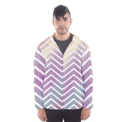 Ombre Zigzag 01 Hooded Windbreaker (men) by snowwhitegirl