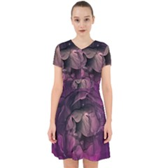 Wonderful Flower In Ultra Violet Colors Adorable In Chiffon Dress by FantasyWorld7