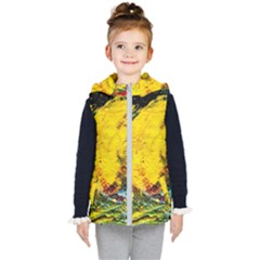 Yellow Chik Kid s Hooded Puffer Vest by bestdesignintheworld