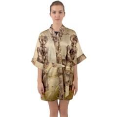 Lady 2507645 960 720 Quarter Sleeve Kimono Robe by vintage2030