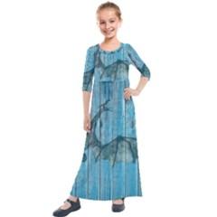 Dragon 2523420 1920 Kids  Quarter Sleeve Maxi Dress by vintage2030