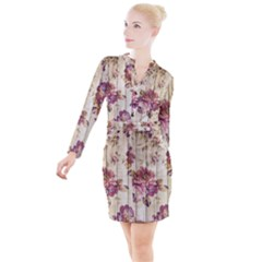 On Wood 1897174 1920 Button Long Sleeve Dress by vintage2030