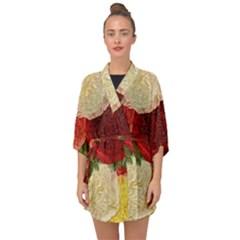 Flowers 1776429 1920 Half Sleeve Chiffon Kimono by vintage2030