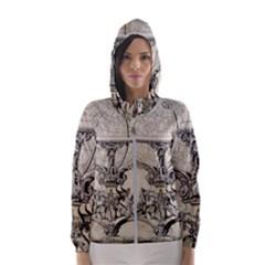 Globe 1618193 1280 Hooded Windbreaker (women) by vintage2030