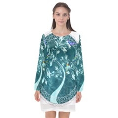 Tag 1763342 1280 Long Sleeve Chiffon Shift Dress  by vintage2030