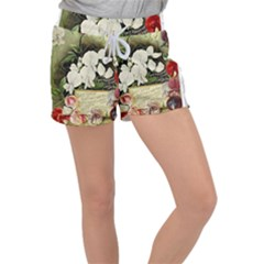 Flowers 1776617 1920 Women s Velour Lounge Shorts by vintage2030