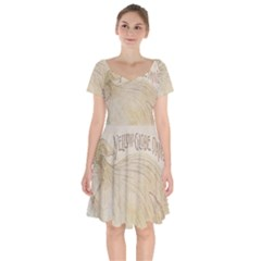 Background 1776456 1280 Short Sleeve Bardot Dress by vintage2030