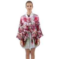 Flowers 2548756 1920 Long Sleeve Kimono Robe by vintage2030