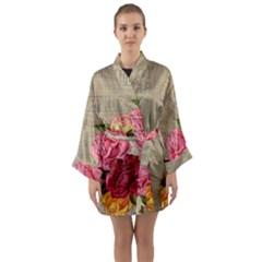 Flower 1646069 960 720 Long Sleeve Kimono Robe by vintage2030