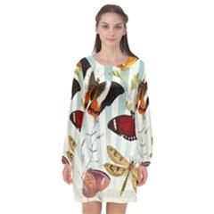 Butterfly 1064147 960 720 Long Sleeve Chiffon Shift Dress