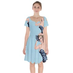 Retro 1107640 960 720 Short Sleeve Bardot Dress by vintage2030
