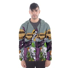 Playing Skeleton Hooded Windbreaker (men) by vintage2030