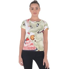 Elephant 1650653 1920 Short Sleeve Sports Top  by vintage2030