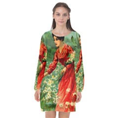 Lady 1334282 1920 Long Sleeve Chiffon Shift Dress  by vintage2030