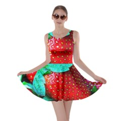 Red Strawberries Skater Dress by FunnyCow