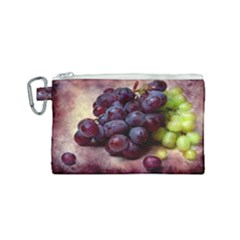 Red And Green Grapes Canvas Cosmetic Bag (small)