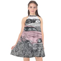 Oldtimer 166530 1920 Halter Neckline Chiffon Dress  by vintage2030