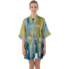 Caribbean Quarter Sleeve Kimono Robe by WILLBIRDWELL