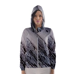 Black And White Hooded Windbreaker (women) by WILLBIRDWELL
