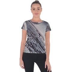 Black And White Short Sleeve Sports Top  by WILLBIRDWELL