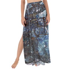 Angel Wings Blue Grunge Texture Maxi Chiffon Tie Up Sarong by CrypticFragmentsDesign