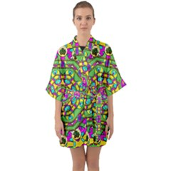 Cool Colors To Love And Cherish Quarter Sleeve Kimono Robe by pepitasart