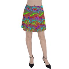 Colorful Wavy Shapes                                            Panel Skirt