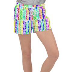 Colorful Stripes                                   Women s Velour Lounge Shorts by LalyLauraFLM
