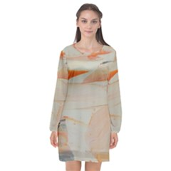 Dreamscape Long Sleeve Chiffon Shift Dress  by WILLBIRDWELL