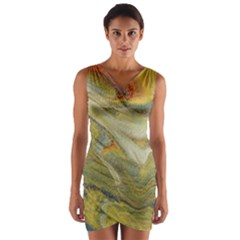 Rainbow Tornado Wrap Front Bodycon Dress by WILLBIRDWELL