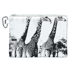 Giraffe  Canvas Cosmetic Bag (xl) by Valentinaart