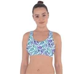 Whale Sharks Cross String Back Sports Bra by mbendigo