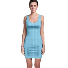 Oktoberfest Bavarian Blue And White Small Gingham Check Bodycon Dress by PodArtist
