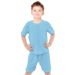 Oktoberfest Bavarian Blue And White Gingham Check Kid s Set by PodArtist