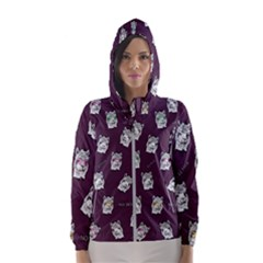 Llama Pattern Hooded Windbreaker (women) by Valentinaart
