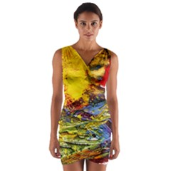 Yellow Chik 3 Wrap Front Bodycon Dress by bestdesignintheworld